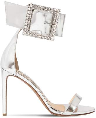 Alexandre Vauthier 100MM YASMIN LEATHER SANDALS W/ CRYSTALS