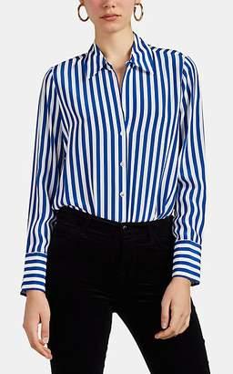 L'Agence Women's Brielle Striped Silk Blouse