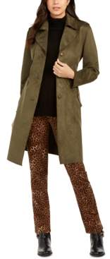 Charter Club Charter Faux-Suede Trench Coat, Created for Macy's