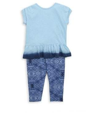 Splendid Little Girl's Two-Piece Dip Dye Tee & Leggings Set