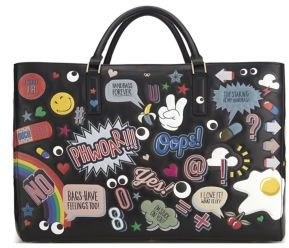 Anya Hindmarch Ebury Maxi Wink Sticker Leather Tote $3,500 thestylecure.com