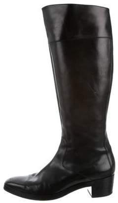 Balenciaga Knee-High Square-Toe Boots Black Knee-High Square-Toe Boots