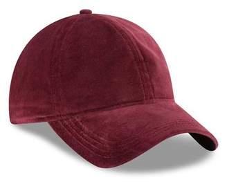 New Era Hats Velvet 9Twenty Cap in Maroon