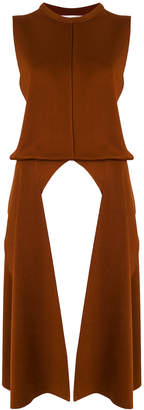 Chloé contrast side piping tunic