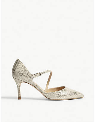LK Bennett Alix metallic leather open courts