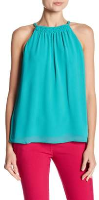 Naked Zebra Love Actually Sea Green Sleeveless Blouse