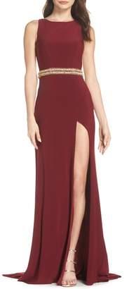 Mac Duggal Embellished Waist Gown