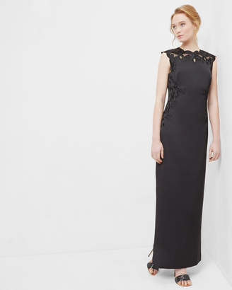 Ted Baker ELLIL Embroidered lace maxi dress