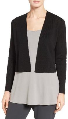 Women's Eileen Fisher Organic Linen Blend Crop Cardigan $218 thestylecure.com