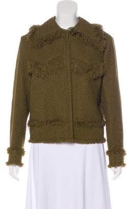 Nina Ricci Frayed Tweed Jacket w/ Tags