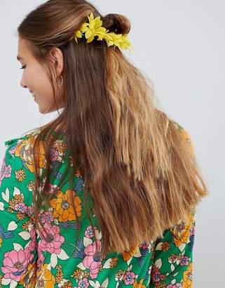 Asos DESIGN Sunflower Floral Back Hair Clip