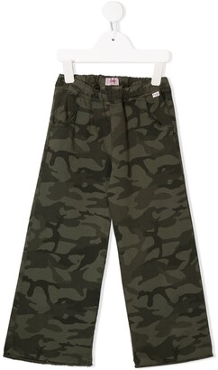 Il Gufo camouflage cargo pants