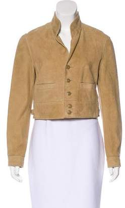 Ralph Lauren Suede Button-Up Jacket