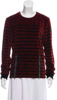 Jean Paul Gaultier Velvet Long Sleeve Top