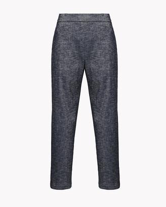 Stretch Linen Crop Pant $285 thestylecure.com