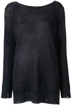 Avant Toi slash neck sweater