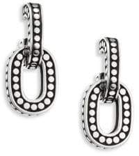 John Hardy Dot Small Sterling Silver Hoop Earrings