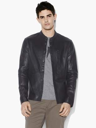 John Varvatos WYATT LEATHER SHIRT JACKET