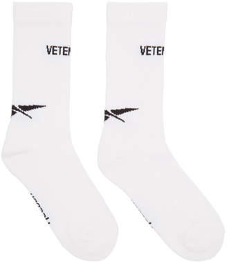 Vetements White and Black Reebok Edition Socks