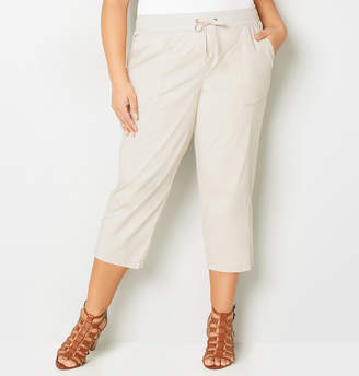 Avenue Flap Pocket Poplin Capri