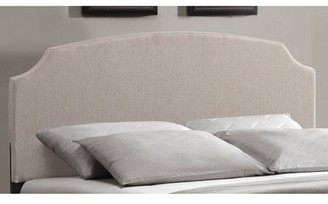 Hillsdale Furniture Lawler Upholstered Headboard with Bedframe, Full Size, Cream Fabric