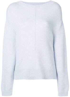 Closed crew neck knitted sweater