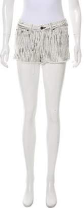 Rag & Bone Print Mini Shorts