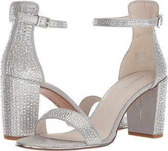 Kenneth Cole New York Women's Lex Shine Glitzy Block Ankle Strap Heeled Sandal
