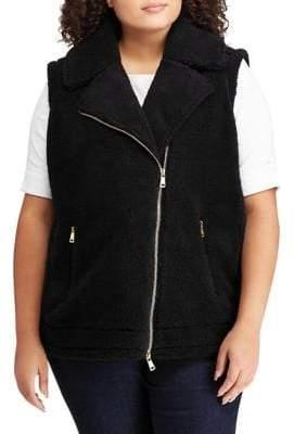 Lauren Ralph Lauren Plus Faux-Shearling Zip Vest