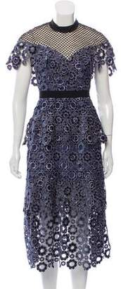 Self-Portrait Tiered Lace Dress