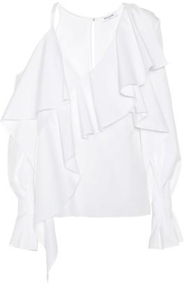 Thierry Mugler Asymmetric cotton blouse