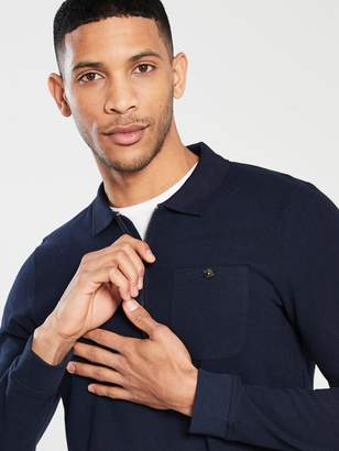 Ted Baker Long Sleeve Polo Sweater