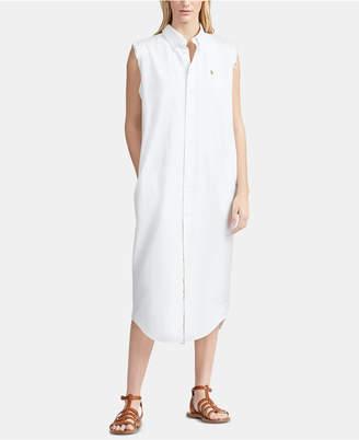Polo Ralph Lauren Sleeveless Oxford Cotton Shirtdress