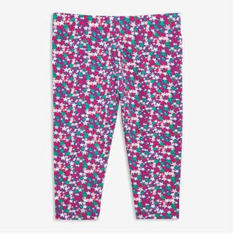 Joe Fresh Toddler Girls' Print Capri Leggings, Teal (Size 2)