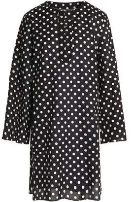 Dolce & Gabbana Polka-Dot Cotton Mini Dress