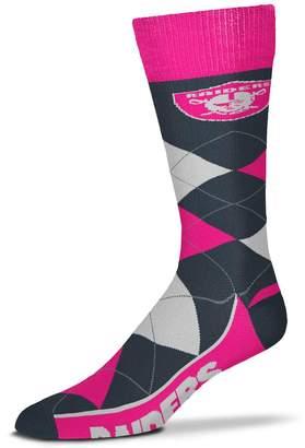 Melange Home Unbranded For Bare Feet Oakland Raiders Line Up Argyle Socks