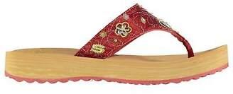 Skechers Girls Sparks Flip Flops Child Flat Sandals Strap Toe Post Sequin