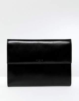 Knomo Leather Portable Organizer With Magnetic Fastening