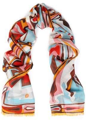 Emilio Pucci Printed Cashmere And Silk-Blend Gauze Scarf