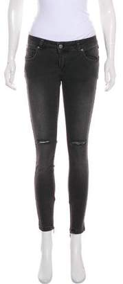 Anine Bing Distressed Low-Rise Jeans