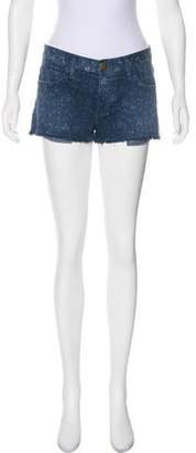 Current/Elliott Frayed Hem Mini Shorts