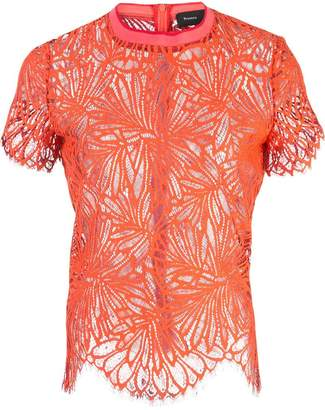Proenza Schouler Lace Short Sleeve Top