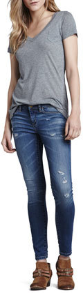Blank Faded Destroyed Skinny Jeans