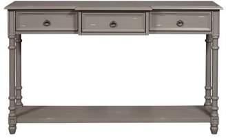HomeFare Distressed Grey Entryway Console