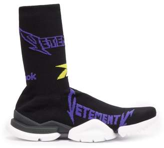 Vetements X Reebok High Top Sock Trainers - Mens - Black Multi