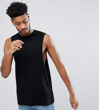 Asos Design DESIGN relaxed sleeveless t-shirt with dropped armhole in black