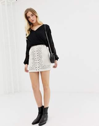 Glamorous pattern mini skirt
