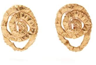 Orit Elhanati - Four Gold Plated Clip On Earrings - Womens - Gold