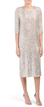 Made In Italy All Over Sequin Midi Dress