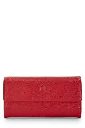 edce5f153b65 ... What Goes Around Comes Around · Chanel Red Caviar Flap Wallet